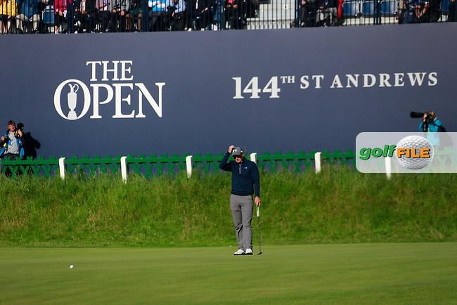Paul DUNNE (IRL) (a) during the 3rd round on Sunday of the 144th Open Championship, St Andrews Old Course, St Andrews, Fife, Scotland. 19/07/2015.<br /> Picture: Golffile | Fran Caffrey<br /> <br /> <br /> All photo usage must carry mandatory copyright credit (&copy; Golffile | Fran Caffrey)