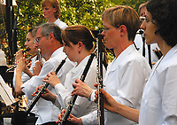 The Wisconsin Chamber Orchestra woodwind section prepares for the 2007 season of Concerts on the Square with a dress rehearsal Monday on the Capitol steps