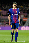 Sergio Busquets Burgos of FC Barcelona in action during the Copa Del Rey 2017-18 match between FC Barcelona and Valencia CF at Camp Nou Stadium on 01 February 2018 in Barcelona, Spain. Photo by Vicens Gimenez / Power Sport Images