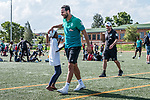 08.01.2019, Safe-Hub Diepsloot, Johannesburg, RSA, TL Werder Bremen Johannesburg Tag 06<br /> <br /> im Bild / picture shows <br /> Claudio Pizarro (Werder Bremen #04), <br /> beim Besuch des Safe-Hub Diepsloot, Johannesburg im Rahmen des Trainingslagers in Südafrika, <br /> <br /> ** Attention * ** Attention * <br /> Only to be used for the purpose of documenting the Safe-Hub visit on 08 January 2019<br /> <br /> Foto © nordphoto / Ewert
