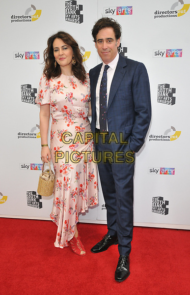 Louise Delamere and Stephen Mangan at the South Bank Sky Arts Awards 2019, The Savoy Hotel, The Strand, London, England, UK, on Sunday 07th July 2019.<br /> CAP/CAN<br /> ©CAN/Capital Pictures