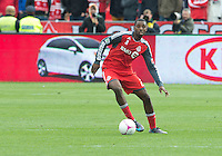 06 October 2012: Toronto FC defender Aaron Maund #21in action during an MLS game between D.C. United and Toronto FC at BMO Field in Toronto, Ontario..D.C. United won 1-0..
