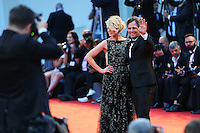 Sunrise Coigney and Mark Ruffalo, right, pose on the red carpet to present the movie 'Spotlight' during the 72nd Venice Film Festival at the Palazzo Del Cinema, in Venice, September 3, 2015. <br /> UPDATE IMAGES PRESS/Stephen Richie