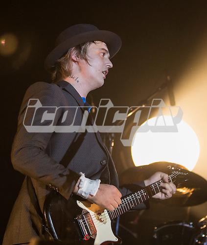 Libertines - Guitarist & Vocals Pete Doherty performing live at Alexandra Palace London UK - 26 September 2014.  Photo credit: Iain Reid/IconicPix