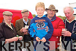 ----9803-9806.---------.Runner's and Rider's.--------------------.Staying close to the Guinness tent at the Beal Ba?n beach races at Ballyferritor last Sunday were L-R John Hanlon(Dingle)John Knightley(Annascaul)Mike O'Donovan,Padar Curren and Pat o'Donovan(Dingle).