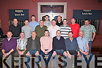 GOLFERS: The Rambler Golfing Socity, Ballyduff held their social evening in Lowes bar & Restaurant, Ballyduff on Friday night. Front l-r:Tim Lawlor, John O'Connor, Jimmy O'Sullivan, Kevin McGrath (capt), Joe Murphy, PJ Walsh and Jimmy Slattery. Back l-r: Ger Lynch, John Paul Leahy, Sean Costello, Vince Linnane, Padraig Harrington, Kenneth Boyle, Paul McCarthy, Brian McGrath, Nelius Slattery and William Quillan.....