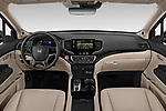 Stock photo of straight dashboard view of a 2019 Honda Pilot Touring 5 Door SUV