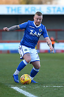 Elliott Durrell of Macclesfield Town during Crawley Town vs Macclesfield Town, Sky Bet EFL League 2 Football at Broadfield Stadium on 23rd February 2019