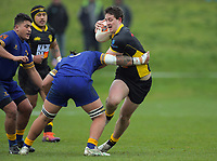 Keinan Higgins in action during the 2019 Jock Hobbs Memorial Under-19 Tournament rugby match between Wellington and Otago at Owen Delany Park in Taupo, New Zealand on Sunday, 8 September 2019. Photo: Dave Lintott / lintottphoto.co.nz