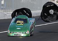 Feb. 15, 2013; Pomona, CA, USA; NHRA top alcohol funny car driver Doug Gordon during qualifying for the Winternationals at Auto Club Raceway at Pomona. Mandatory Credit: Mark J. Rebilas-