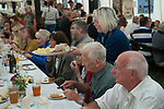 Harvest Home, East Brent, Somerset Uk 2018. Harvest Home celebrates the end of the harvest with a village communal meal. East Brent's Harvest Home has been taking place since 1857. It was started by Archdeacon Denison, the vicar for 51 years of St Mary's Church of the Blessed Virgin together with Churchwarden John Higgs. It is the oldest Harvest Home in Somerset.<br />