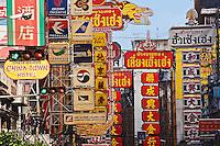 Signs in Chinatown, Bangkok, Thailand