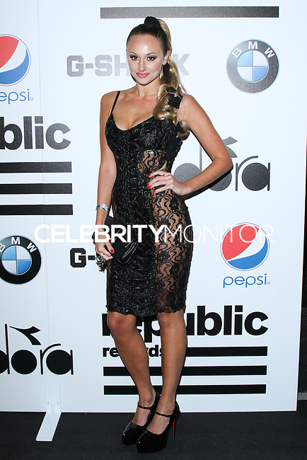 WEST HOLLYWOOD, CA - JANUARY 26: KORR-A, Kristina Korban at the Republic Records 2014 GRAMMY Awards Party held at 1 OAK on January 26, 2014 in West Hollywood, California. (Photo by David Acosta/Celebrity Monitor)