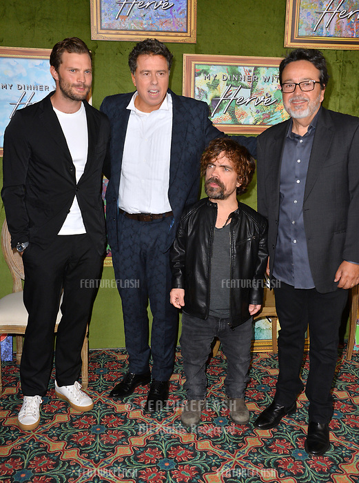 LOS ANGELES, CA. October 04, 2018: Jamie Dornan, Sacha Gervasi, Peter Dinklage &amp; Len Amato at the Los Angeles premiere for &quot;My Dinner With Herve&quot; at Paramount Studios.<br /> Picture: Paul Smith/Featureflash