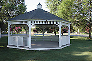 Gazebo at the town common. Located in Topsfield Massachusetts USA , which is in  scenic New England.