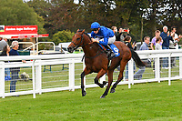 Winner of The Don Hewlett EBF Novice StakesLost in Time ridden by Hector Crouch and trained by Saeed bin Suroor during Evening Racing at Salisbury Racecourse on 3rd September 2019