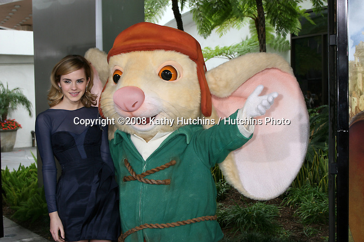 "Emma Watson arriving at the World Premiere of ""The Tale of Despereaux"" at the Arclight Hollywood Theaters in Los Angeles, CA .December 7, 2008.©2008 Kathy Hutchins / Hutchins Photo....                ."