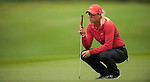 TAOYUAN, TAIWAN - OCTOBER 28:  Suzann Pettersen of Norway lines up a put on the 14th green during the day four of the Sunrise LPGA Taiwan Championship at the Sunrise Golf Course on October 28, 2012 in Taoyuan, Taiwan.  Photo by Victor Fraile / The Power of Sport Images