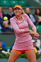 France, Paris, 26.05.2014. Tennis, Roland Garros,  Maria Sharapova (RUS) in action against Ksenia Pervak (RUS)<br /> Photo:Tennisimages/Henk Koster
