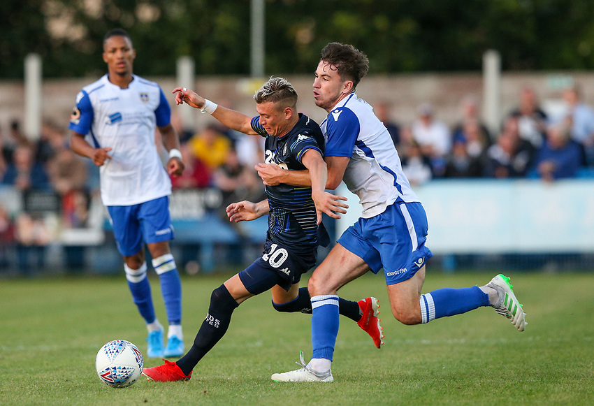Leeds United's Ezgjan Alioski in action<br /> <br /> Photographer Alex Dodd/CameraSport<br /> <br /> Football Pre-Season Friendly - Guiseley v Leeds United - Thursday July 11th 2019 - Nethermoor Park - Guiseley<br /> <br /> World Copyright © 2019 CameraSport. All rights reserved. 43 Linden Ave. Countesthorpe. Leicester. England. LE8 5PG - Tel: +44 (0) 116 277 4147 - admin@camerasport.com - www.camerasport.com