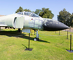 RAF Phantom FUR2 fighter plane, Bentwaters Cold War museum, Suffolk, England, UK