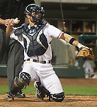 Aces catcher John Hester.  Photo by Tom Smedes.