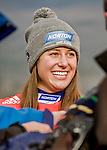 5 December 2015: Emily Sweeney of the United States of America, is all smiles after having come in second place in the Viessmann World Cup Women's Luge at the Olympic Sports Track in Lake Placid, New York, USA. Mandatory Credit: Ed Wolfstein Photo *** RAW (NEF) Image File Available ***