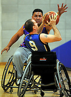Auckland A v Northland Te Raki Trouper - 2010 Wheelchair Basketball National Championships at Te Rauparaha Arena, Porirua. Friday, 117 September 2010. Photo: Dave Lintott/lintottphoto.co.nz