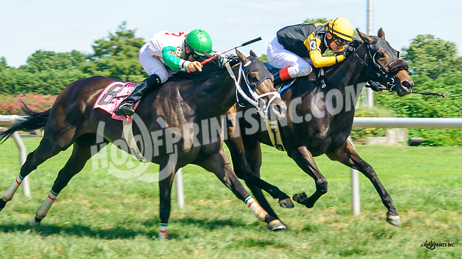 Azia Brown winning at Delaware Park on 8/15/16