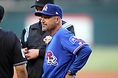 Round Rock Express coach Spike Owen #11 during a game versus the Memphis Redbirds at Autozone Park on April 29, 2011 in Memphis, Tennessee.  Round Rock defeated Memphis by the score of 5-4 in 13 innings.  Photo By Mike Janes/Four Seam Images