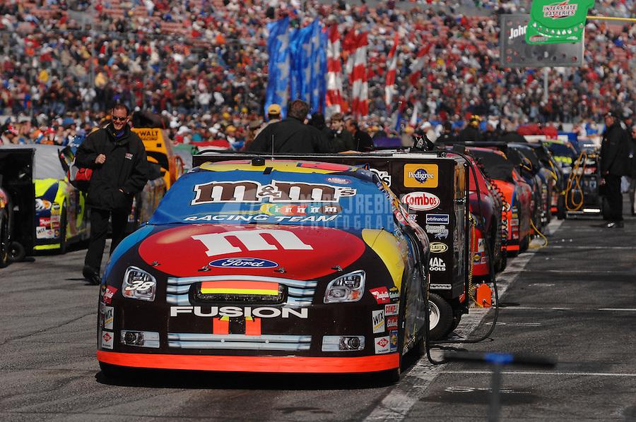 Feb 18, 2007; Daytona, FL, USA; The car of Nascar Nextel Cup Series driver David Gilliland (38) sits on the grid prior to the Daytona 500 at Daytona International Speedway. Mandatory Credit: Mark J. Rebilas