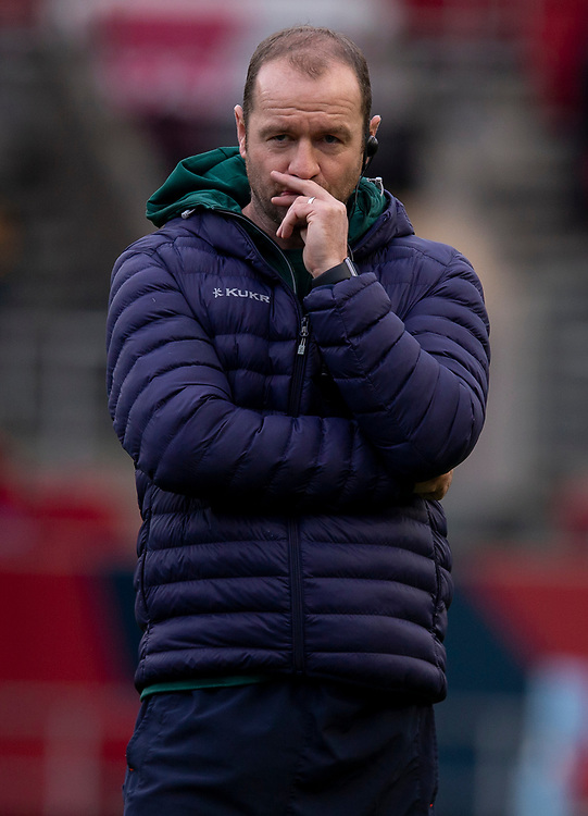 Leicester Tigers' Head Coach Geordan Murphy<br /> <br /> Photographer Bob Bradford/CameraSport<br /> <br /> Gallagher Premiership - Bristol Bears v Leicester Tigers - Saturday 1st December 2018 - Ashton Gate - Bristol<br /> <br /> World Copyright &copy; 2018 CameraSport. All rights reserved. 43 Linden Ave. Countesthorpe. Leicester. England. LE8 5PG - Tel: +44 (0) 116 277 4147 - admin@camerasport.com - www.camerasport.com