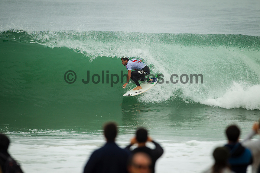 LA GRAVIERE, Hossegor/France (Friday, September 28, 2012) Alejo Muniz (BRA). - The opening nine Round 1 heats of the Quiksilver Pro France were completed today in clean three-to-five (1 - 1.5 metre) waves at the primary site of La Graviere...Event No. 7 of 10 on the 2012 ASP World Championship Tour season, the Quiksilver Pro France took advantage of solid barrels on offer this morning before calling competition off this afternoon as the swell subsided..Mick Fanning (AUS), 31, two-time ASP World Champion (2007, 2009) and current ASP WCT No. 1, took down an in-form Wiggolly Dantas (BRA), 22, and Travis Logie (ZAF), 33, in their Round 1 match-up, utilising his extensive tibe-riding abilities.. Photo: joliphotos.com