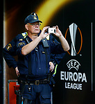 Armed police gather pitchside ahead of the UEFA Europa League Final at the Friends Arena, Stockholm. Picture date: May 23rd, 2017. Pic credit should read: Matt McNulty/Sportimage