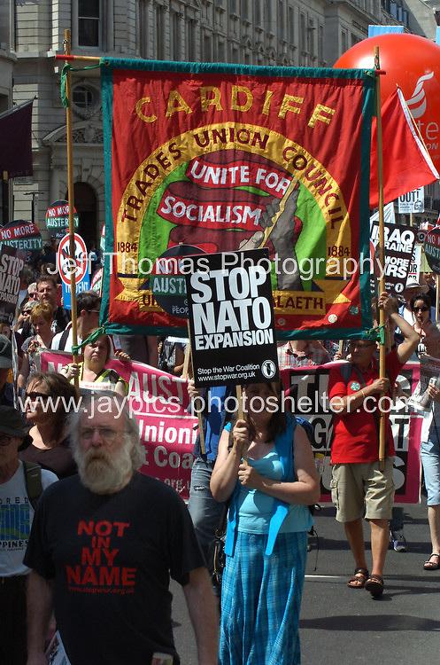 London - Saturday 21st June 2014. No More Austerity protest rally. <br /> <br /> <br /> Photo credit: Jeff Thomas - Jeff Thomas Photography - 07837 386244/07837 216676 - www.jaypics.photoshelter.com - thomastwotimes@live.co.uk