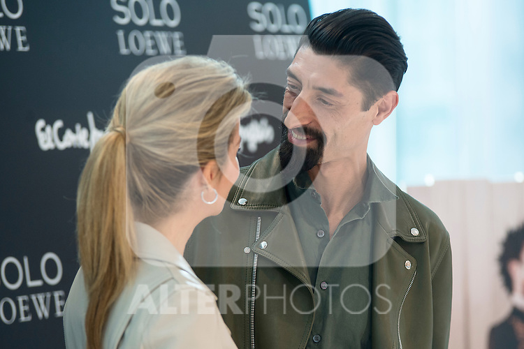 Alejandra Silva and Paolo Henriques during the presentation of the new perfume SOLO LOEWE Cedro at El Corte Ingles Castellana in Madrid, October 06, 2015.<br /> (ALTERPHOTOS/BorjaB.Hojas)