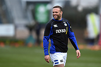 Jamie Roberts of Bath Rugby looks on during the pre-match warm-up. Gallagher Premiership match, between Worcester Warriors and Bath Rugby on January 5, 2019 at Sixways Stadium in Worcester, England. Photo by: Patrick Khachfe / Onside Images