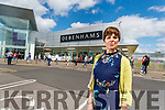 Caroline Clifford (Industrial Officer Mandate), with Debenhams staff protesting outside the shop on Friday.