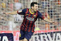 FC Barcelona's Leo Messi celebrates goal during La Liga match.September 1,2013. (ALTERPHOTOS/Acero) <br /> Football Calcio 2013/2014<br /> La Liga Spagna<br /> Foto Alterphotos / Insidefoto <br /> ITALY ONLY