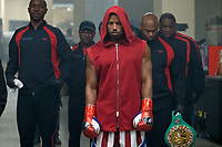 Creed II (2018) <br /> (Creed 2)<br /> Wood Harris stars as Tony 'Little Duke' Burton and (ctr) Michael B. Jordan as Adonis Creed   <br /> *Filmstill - Editorial Use Only*<br /> CAP/MFS<br /> Image supplied by Capital Pictures