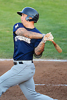 Taylor Brennan (12) of the Helena Brewers at bat against the Ogden Raptors at Lindquist Field in Ogden Utah on July 20, 2013.  (Stephen Smith/Four Seam Images)