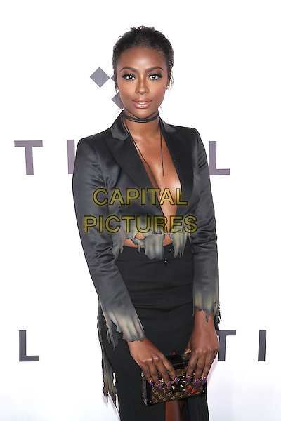 NEW YORK, NY - OCTOBER 15: Justine Skye attends TIDAL's Second Annual Philanthropic Festival, TIDAL X: 1015 in partnership with Robin Hood at Barclays Center on October 15, 2016  in New York City.  <br /> <br /> CAP/MPI/DIE<br /> &copy;DIE/MPI/Capital Pictures