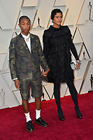 LOS ANGELES, CA. February 24, 2019: Pharrell Williams &amp; Helen Lasichanh at the 91st Academy Awards at the Dolby Theatre.<br /> Picture: Paul Smith/Featureflash