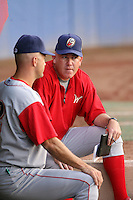 June 27th 2008:  Pitching Coach Bill Bliss of the Williamsport Crosscutters, Class-A affiliate of the Pittsburgh Pirates, during a game at Russell Diethrick Park in Jamestown, NY.  Photo by:  Mike Janes/Four Seam Images