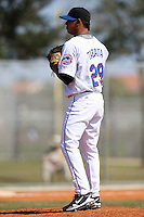 March 19, 2010:  Pitcher Marcos Tabata (29) of the New York Mets organization during Spring Training at the Roger Dean Stadium Complex in Jupiter, FL.  Photo By Mike Janes/Four Seam Images