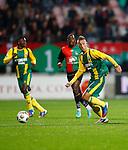 Nederland, Nijmegen, 5 oktober 2012.Eredivisie.Seizoen 2012-2013.N.E.C.-ADO Den Haag.Kevin Visser van ADO Den Haag in actie met bal.