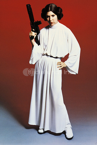 Carrie Fisher as Princess Leia Organa<br />