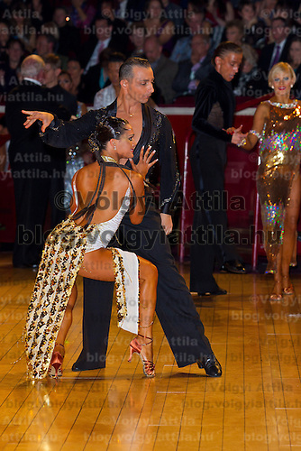 Maurizio Vescovo & Andra Vaidilaite dancing for Canada perform during the professional latin competition of the International Championships final held in Royal Albert Hall, London, United Kingdom. Thursday, 21. October 2010. ATTILA VOLGYI