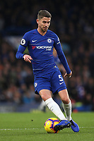Jorginho of Chelsea in action during Chelsea vs Crystal Palace, Premier League Football at Stamford Bridge on 4th November 2018