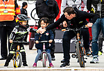 Mathew Hayman (AUS) Mitchelton-Scott with young fans at the end of the 2018 Shanghai Criterium, Shanghai, China. 17th November 2018.<br /> Picture: ASO/Alex Broadway | Cyclefile<br /> <br /> <br /> All photos usage must carry mandatory copyright credit (&copy; Cyclefile | ASO/Alex Broadway)
